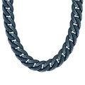 Chunky chain plastic black necklace or bracelet Royalty Free Stock Photo