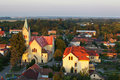 Church aerial view in slovakia Royalty Free Stock Photos
