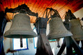 Church age-old bronze bell Royalty Free Stock Photo
