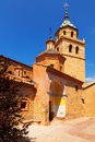 Church in albarracin aragon spain Stock Photography