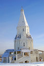 Church of the ascension in kolomenskoye moscow russia winter unesco world heritage site Stock Images
