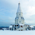 Church of the ascension in kolomenskoye moscow at winter Stock Photography