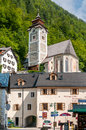 Church ascension of our lady in hallstatt Stock Photo