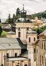 Church of the assumption, Banska Stiavnica, yellow filter