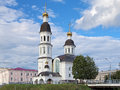 Church of assumption of the virgin mary in arkhangelsk russia Stock Photography