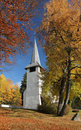 Church in the autumn Stock Photo