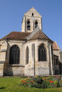 The church of Auvers sur Oise Royalty Free Stock Photo