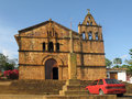 A church in Barichara Royalty Free Stock Images