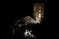 Church of Barruera n the Catalan Pyrenees. Spain Royalty Free Stock Photo