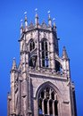 Church bell tower boston england upper part of the stump st botolph s lincolnshire uk western europe Stock Photography
