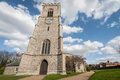 Church bell tower and clock of st nicholas parish in wells next the sea norfolk uk Stock Image