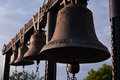 Church bells ranked bell tower Royalty Free Stock Photography