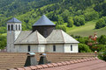 Church of Bernex in French Alps Royalty Free Stock Photography