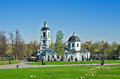 Church of the blessed virgin zhivonosny source Stock Photography