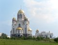 Church on the blood ekaterinburg khram na krovi of all saints in russia in honor of tzar nikolay family Stock Image