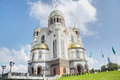The church on blood in honour of all saints resplendent in the russian land yekaterinburg city russia view where nicholas ii Stock Photography