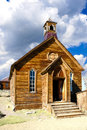 Church in Bodie State Historic Park, California Royalty Free Stock Image
