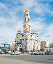 Church the bolshoi zlatoust big chrysostom maximilian church yekaterinburg russia april on april it was destroyed in and rebuilt Royalty Free Stock Images