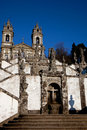 The church Bom Jesus do Monte Royalty Free Stock Photo