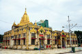 Church of Botahtaung Pagoda in yangon Myanmar Royalty Free Stock Photo