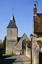 Church Bourg-le-Roi in France Royalty Free Stock Photography