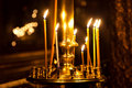 Church candle light Royalty Free Stock Images