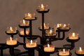 Church candles on the dark blurred background Royalty Free Stock Photos