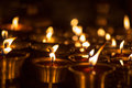 Church candles in kathmandu a temple nepal Stock Images