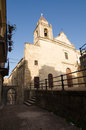 Church in cattabellotta sicily italy the mornins Stock Image