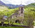 Village of Barruera, Catalonia, Spain, originated in the Romanesque period Royalty Free Stock Photo