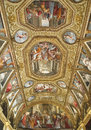 Church of certosa di san martino naples italy august murals inside the on august in the was built in Royalty Free Stock Photography