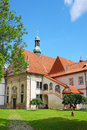 The church in cesky krumlov czech republic Royalty Free Stock Photo