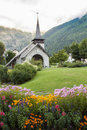 Church in chamonix catholic france Royalty Free Stock Photos