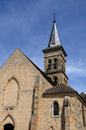 Church of chevreuse in ile de france the Royalty Free Stock Photos