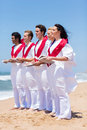 Church choir singing beach group of young on Royalty Free Stock Images