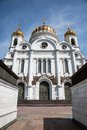 Church of christ the savior in moscow in russia Stock Images