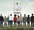 Church Christian Catholic Protestant Orthodox Believe Worship Co Royalty Free Stock Photo