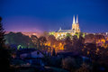 Church city scape at night Royalty Free Stock Photo