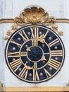 Church clock old in prague Stock Image