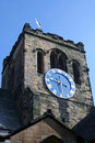 Church clock tower Royalty Free Stock Images