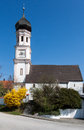 Church with Clock Tower Germany Royalty Free Stock Photos