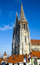 Church close up of a german in regensburg Stock Photography