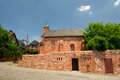 Church in Collonges la rouge Royalty Free Stock Photo