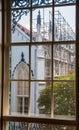 Church Construction Through Window Royalty Free Stock Photo