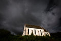 Church in the country side of the highland in scotland with dramatic sky at the back Royalty Free Stock Photo