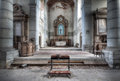 Church of decay an abandoned somewhere in belgium with a great amount and details left Stock Images