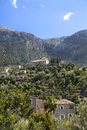 Church of deia in the tramuntana mountains on the island mallorca Royalty Free Stock Photo