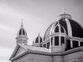 Church dome and steeples over saint josephs san jose Stock Photography