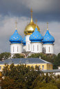 Church domes in Trinity Sergius Lavra Stock Photos