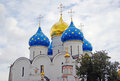 Church domes in trinity sergius lavra sergiev posad russia unesco world heritage site Stock Photo